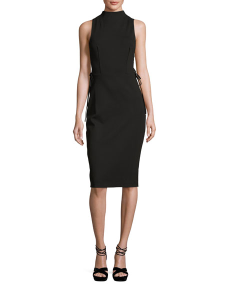 Kendall + Kylie Sleeveless Laced Stretch Crepe Dress,