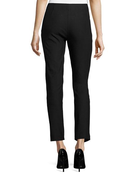Marcia Slim-Fit Ankle Pants, Black