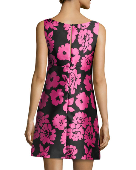 Floral-Print Sleeveless Mini Dress, Pink