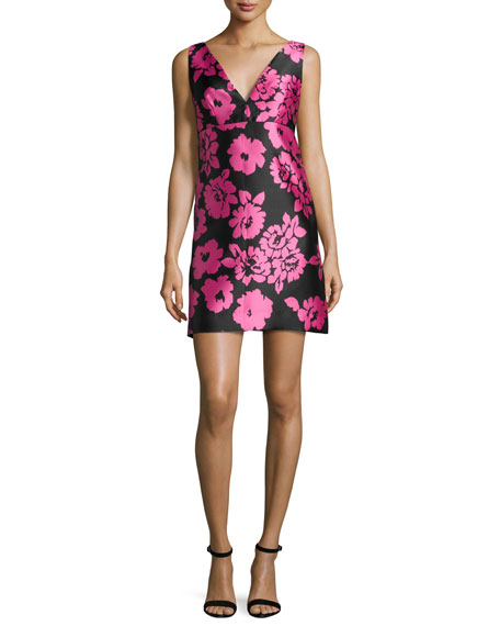 Milly Floral-Print Sleeveless Mini Dress, Pink