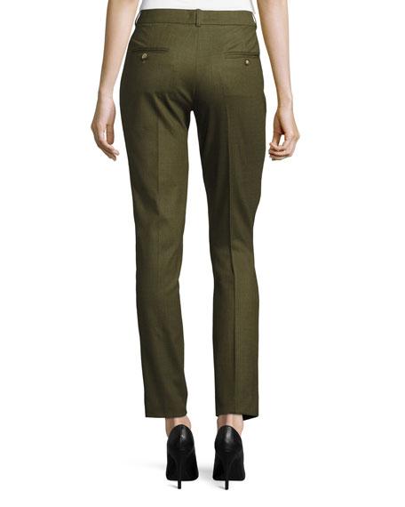 Samantha Skinny Tropical Pants, Olive