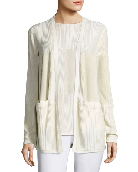 Ombre-Stitched Stretch-Cotton Cardigan, Multi Best Price