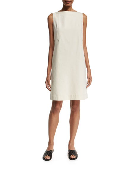 Lafayette 148 New York Kristianne Sleeveless Bateau-Neck Dress,