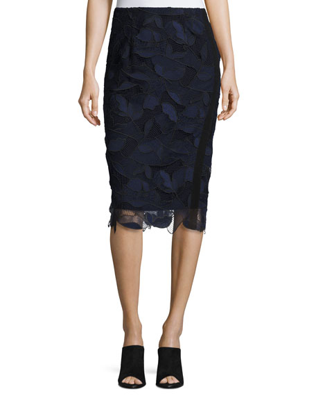 GREY by Jason Wu Lace Pencil Skirt