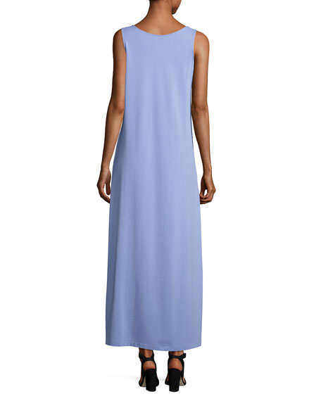 Pique Knit Long Tank Dress, Lavender