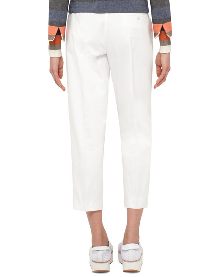Fred Cotton Ankle Pants, Cream