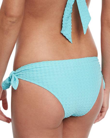 Textured Tie-Side Swim Bottom, Sky