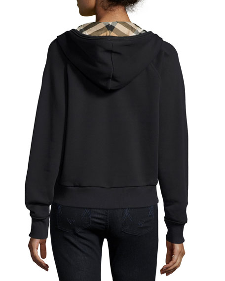 Check-Lined Hoodie, Black Reviews