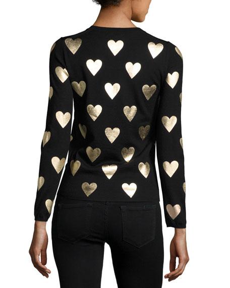BLK GOLD FOIL HEART MERINO C
