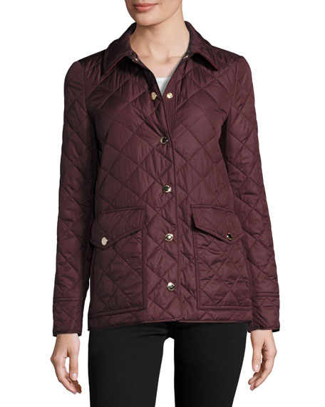 Westbridge Quilted Jacket, Crimson