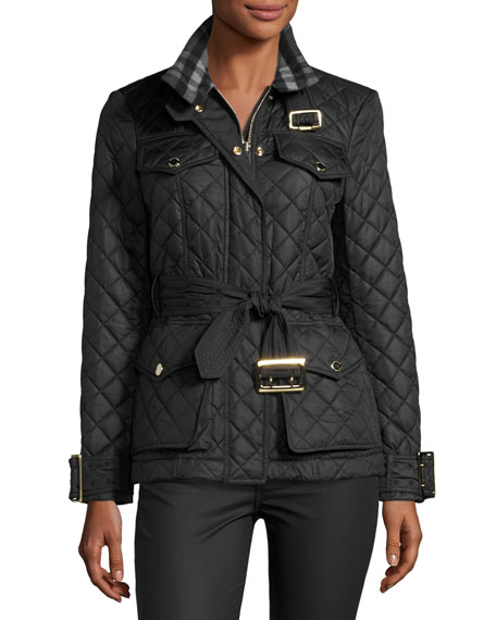 Burberry Haddingfield Quilted Jacket, Black