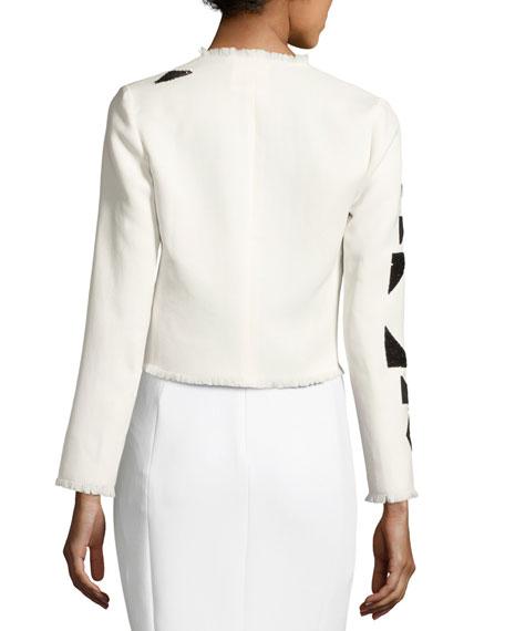 Eleanora Beaded Short Jacket, Cream