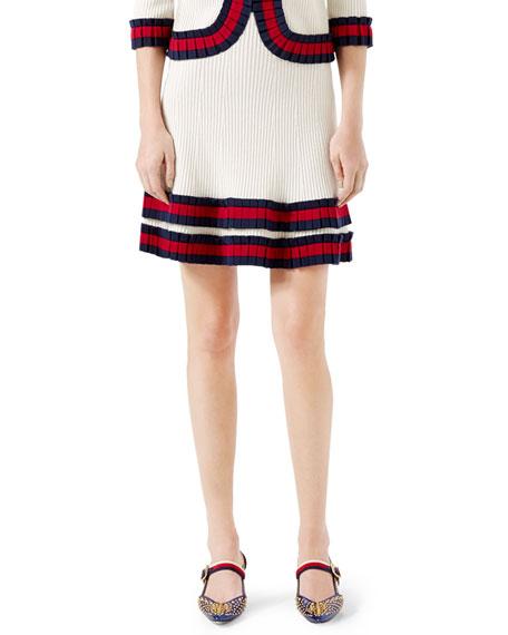 Gucci Knit Wool Skirt, Ivory