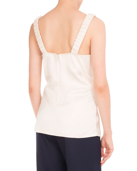 Faux-Wrap V-Neck Top