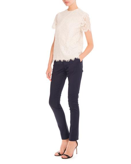 Pinstripe Slim-Leg Pants