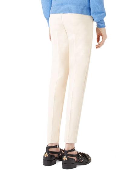 Cotton Stretch Leggings, Cream