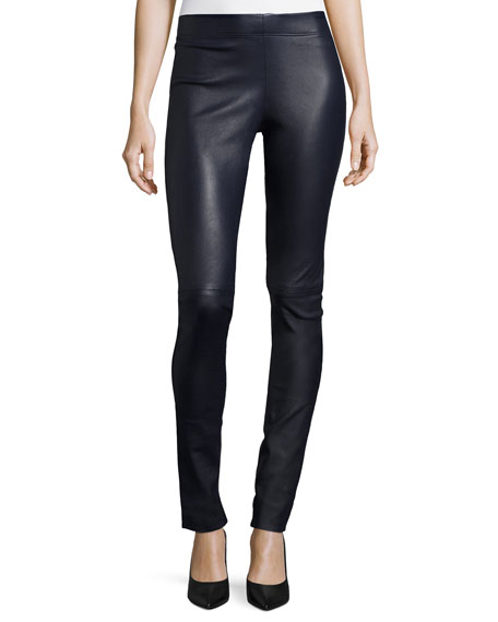 Joseph ink leather Legging (34-44)