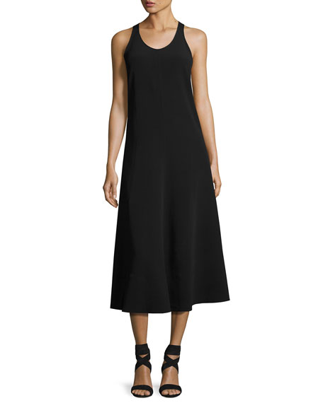 Joseph Penn Sleeveless Ribbon-Strap Midi Dress, Black