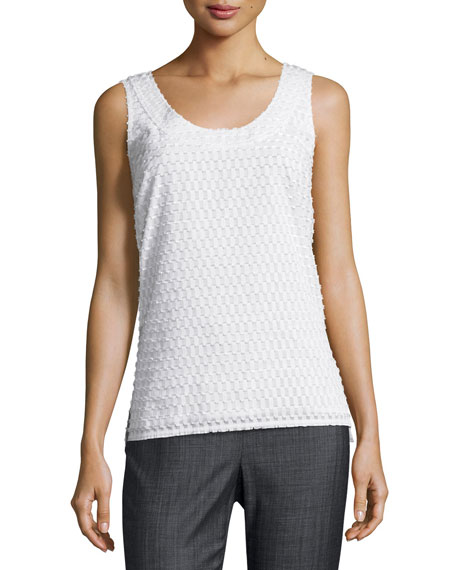 St. John Collection Geo Fil Coupé Scoop-Neck Shell,