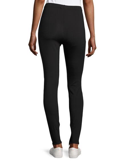Sport Scuba Zip-Cuff Leggings, Black