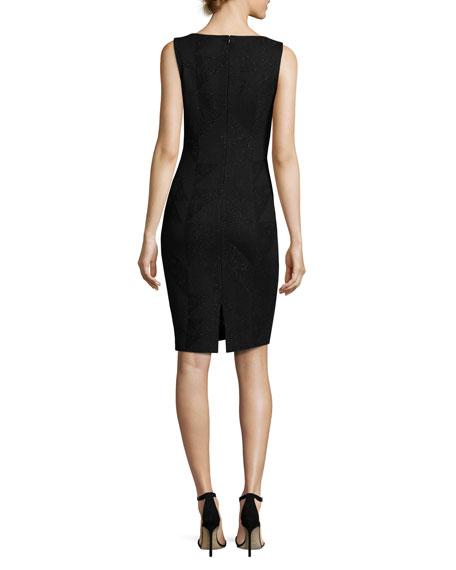 Kiyala Sleeveless V-Neck Knit Dress, Black