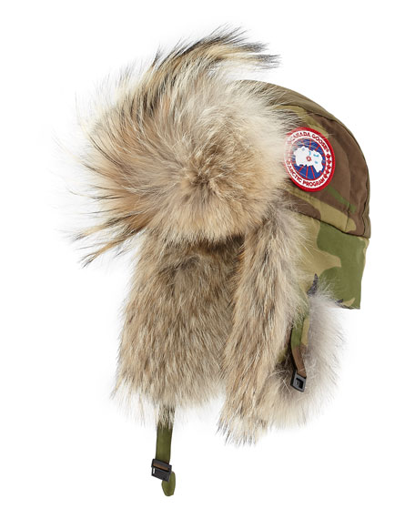 Canada Goose Coyote-Fur Aviator Hat