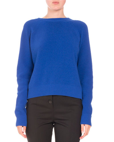 Button-Back Pullover Sweater