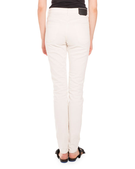 Five-Pocket Skinny Jeans, Cream