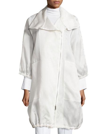 Sheer Silk Organza Jacket, Petite