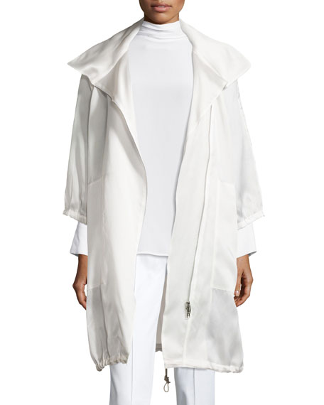 Misook Collection Sheer Silk Organza Jacket, Petite