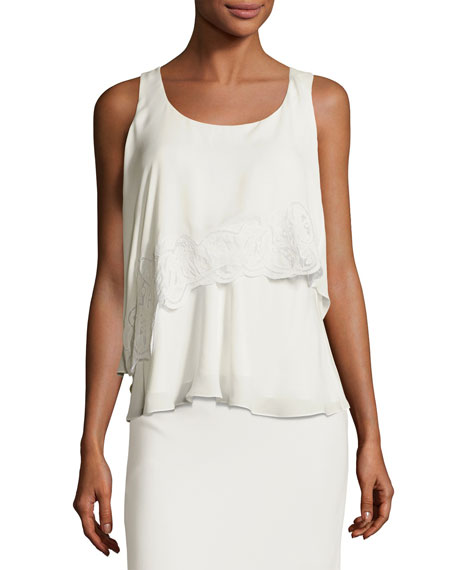 Maiyet Soft Wave Layered Silk Tank Top