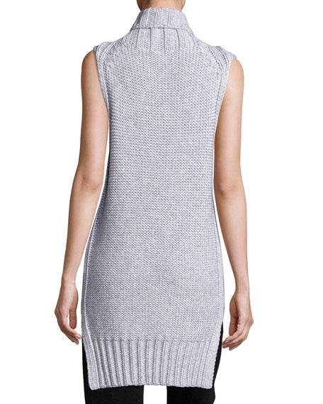 Dominic Turtleneck Sleeveless Sweater