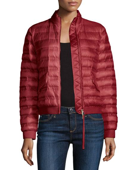 Violette Boxy Down Jacket, Pink