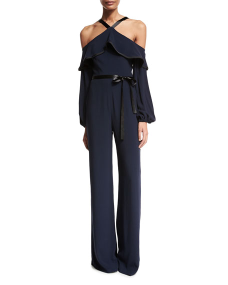 Alexis Nola Cold-Shoulder Jumpsuit, Navy