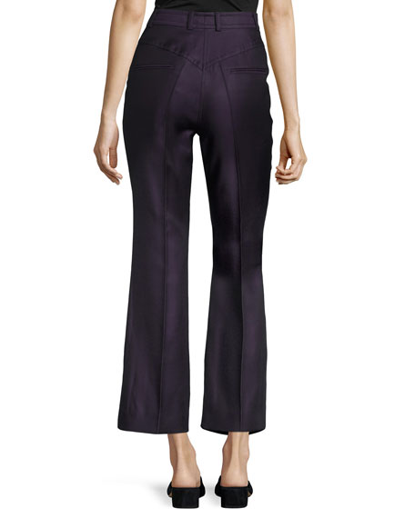 Cropped High-Waist Pants