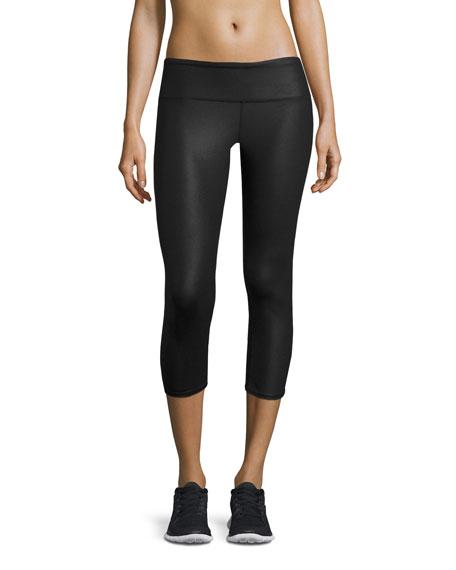 Alo Yoga Airbrush Glossy Capri Sport Leggings