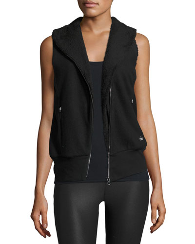 Flat Iron Sherpa-Lined Athletic Vest, Black