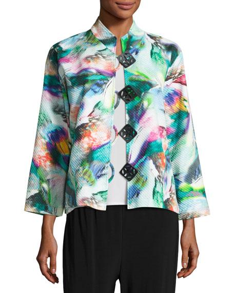 Paradise Pique Easy Jacket, Plus Size