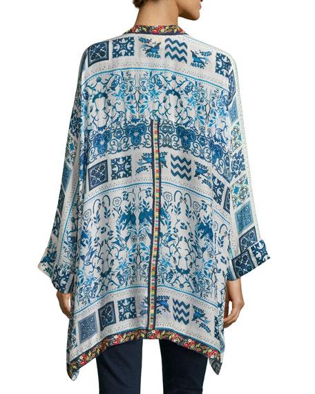 Power Scarf Kimono Jacket, Plus Size