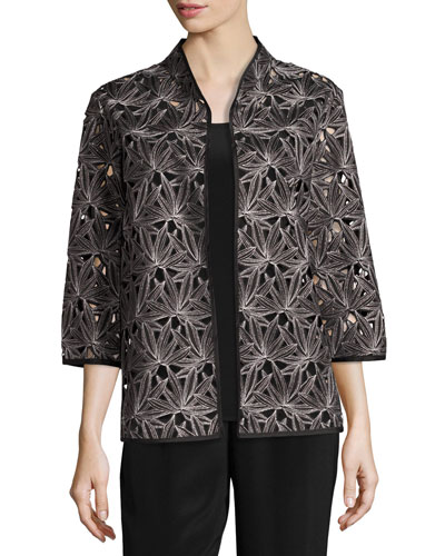 Laser Leaf Embroidered Jacket