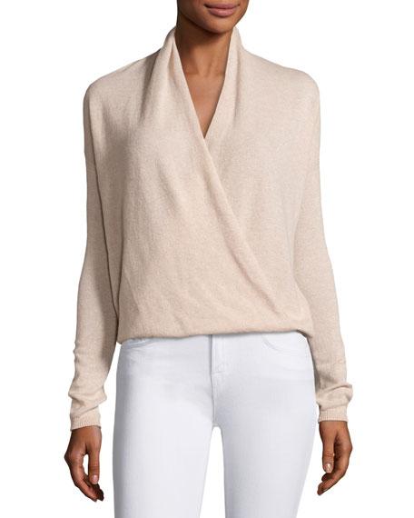 Lien Cashmere Surplice Sweater, Pink