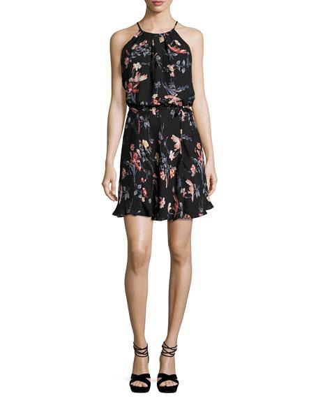 Joie Makana Floral-Print Sleeveless Dress, Black