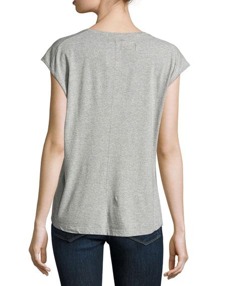 Feminine Muscle Tee, Gray