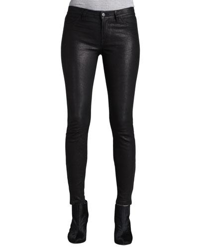Leather Super Skinny Pants