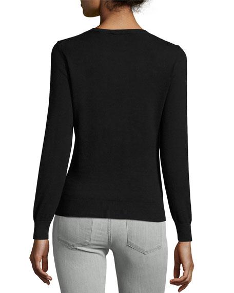 Henie Merry Woofmas Sweater, Black