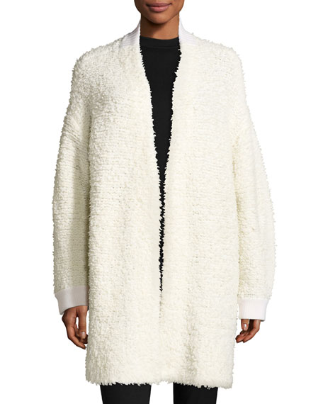 rag & bone/JEAN Cora Textured Sweater Coat, Ivory