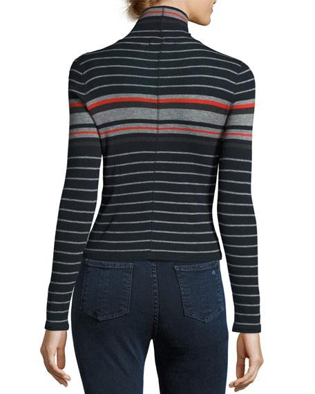 Fine Wool Turtleneck, Salute Stripe