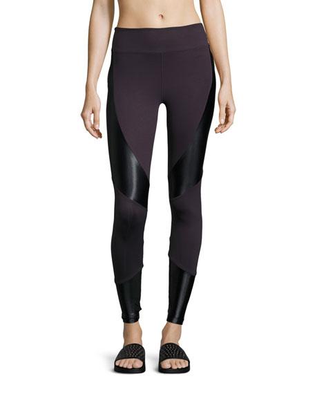 Koral Activewear Forge High-Rise Athletic Leggings, Purple/Black