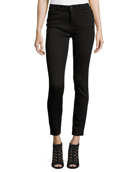 DL1961 FARROW INSTASLIM HIGH-RISE SKINNY ANKLE JEANS, HAIL