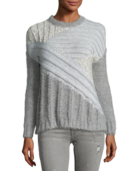 The Mixed Cable Sweater, Gray